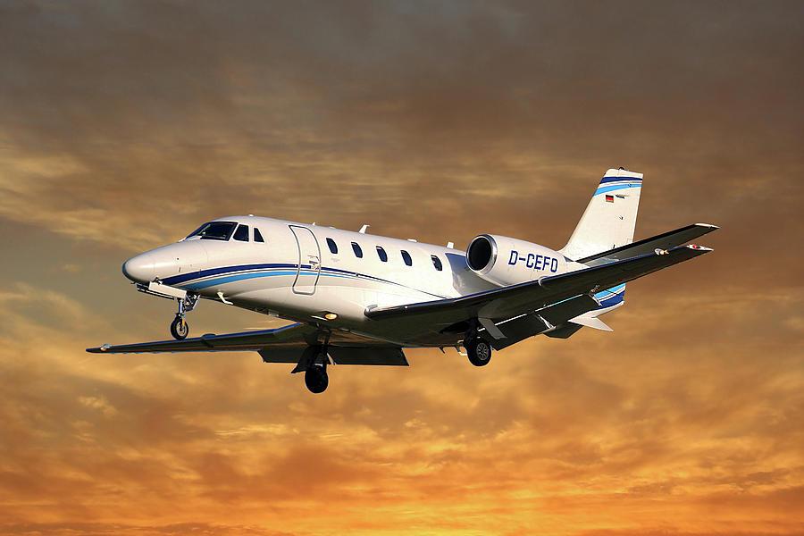 Cessna Photograph - Air Hamburg Cessna 560xl Citation Xls 2 by Smart Aviation