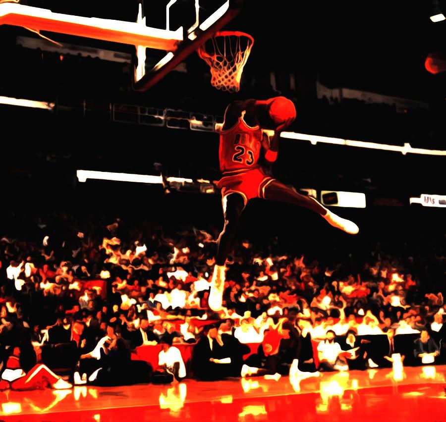 Air Jordan 1988 Slam Dunk Contest 8c Painting by Brian Reaves 5aead92b92