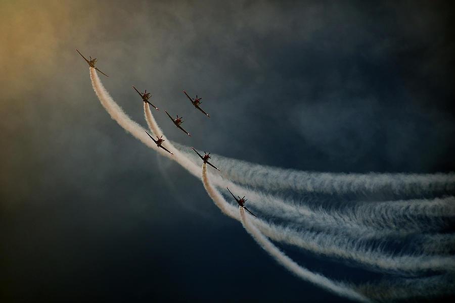 Aviation Photograph - Air Show. by Antonio Grambone