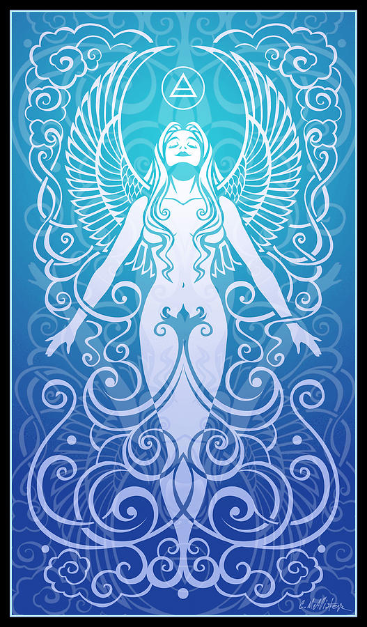 Goddess Digital Art - Air Spirit by Cristina McAllister