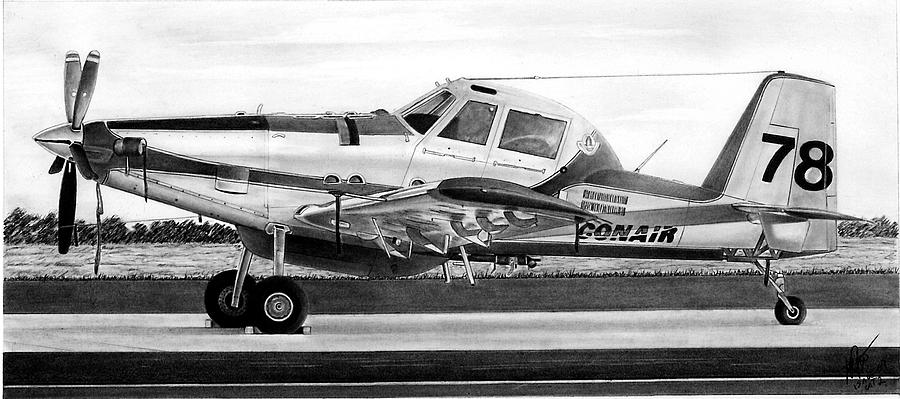 Aviation Drawing - Air Tractor by Lyle Brown