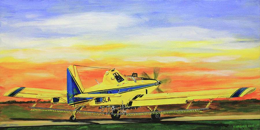 Air Tractor Still At Work by Karl Wagner