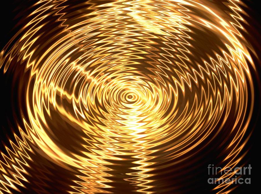 Abstract Digital Art - Air Waves by Belinda Threeths