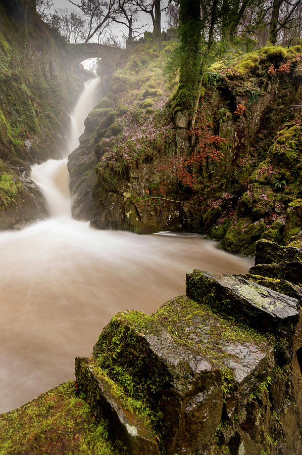 Aira Force Photograph - Aira Force High Water Level by Stephen Dewhurst