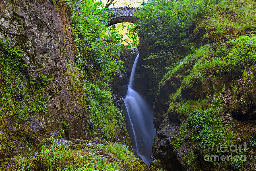 Waterfall Photograph - Aira Force by Pete Reynolds