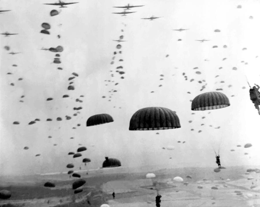 Airborne Photograph - Airborne Mission During Ww2  by War Is Hell Store