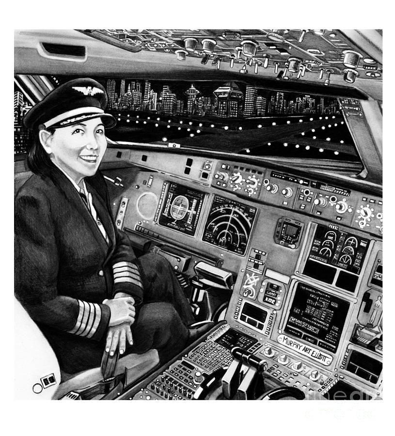 Airbus A320 Cockpit Drawing By Murphy Elliott