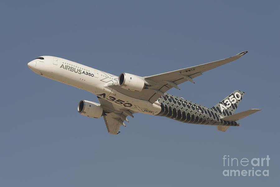 Airbus Photograph - Airbus A350 At Dubai Air Show, Uae by Ivan Batinic