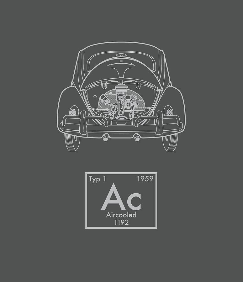 Classic bug Kafer aircooled vw beetle iphone case