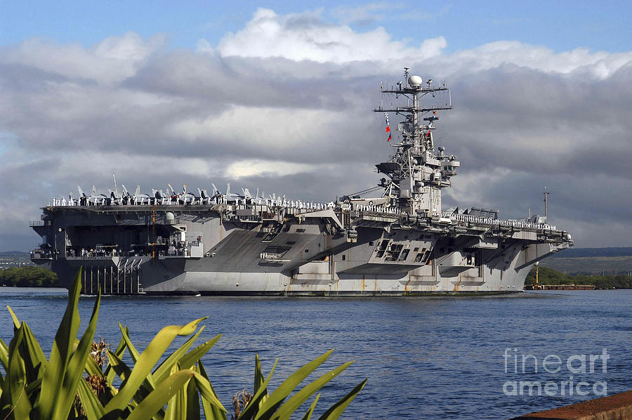 Horizontal Photograph - Aircraft Carrier Uss Abraham Lincoln by Stocktrek Images