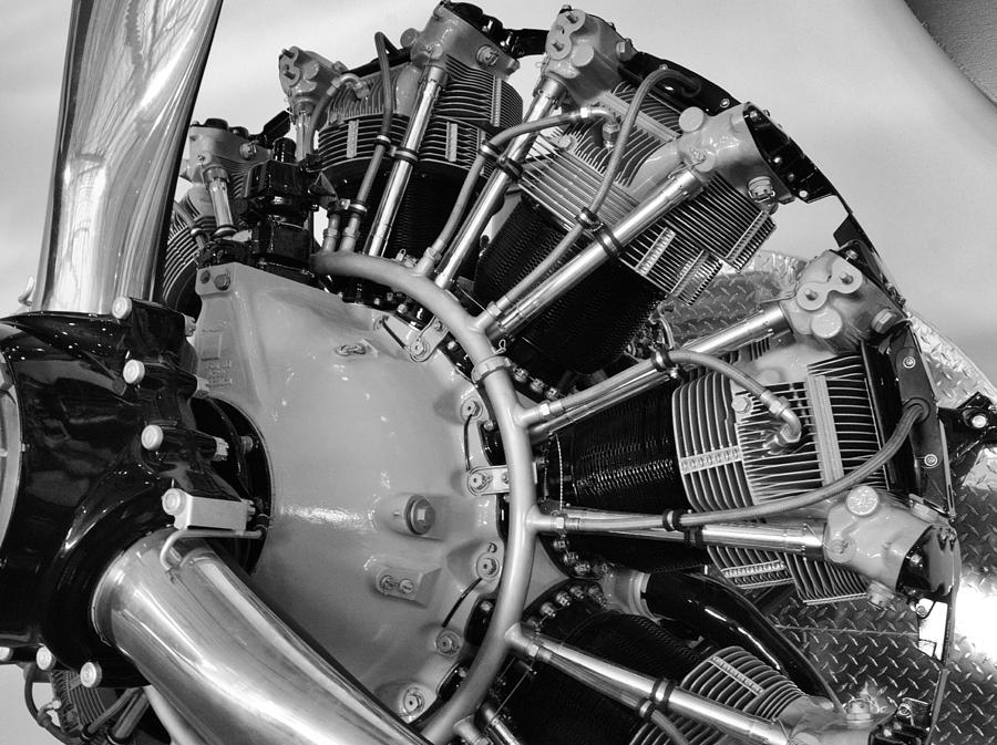 Technology Photograph - Aircraft Engine by Ludwig Keck