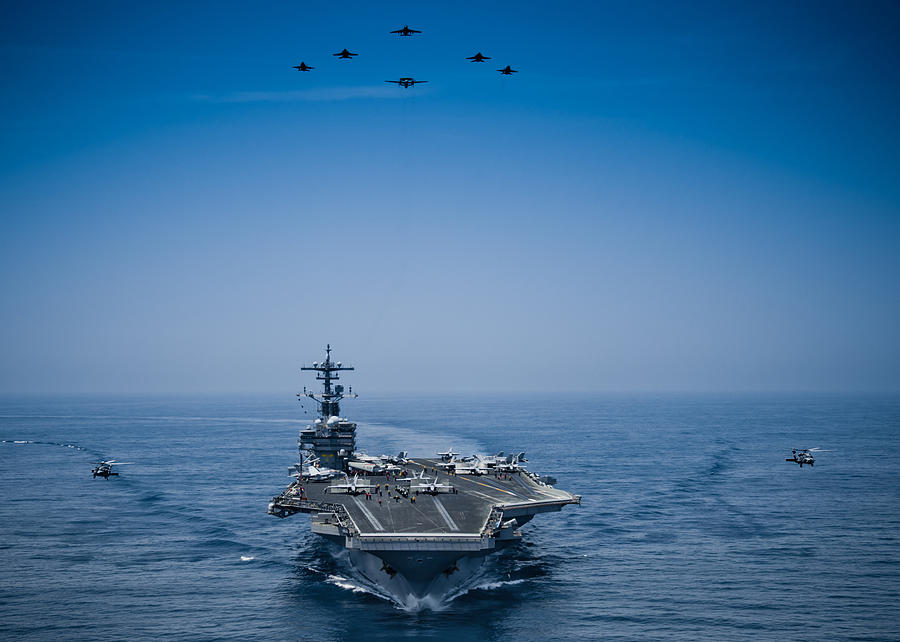 Marine Photograph - Aircraft From Carrier Air Wing by Celestial Images