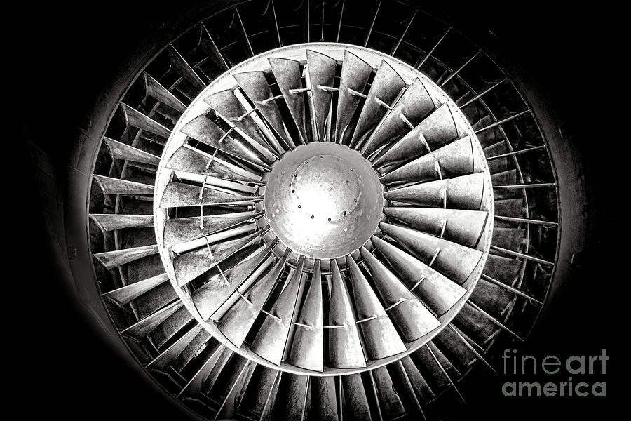 Jet Photograph - Aircraft Turbofan Engine by Olivier Le Queinec