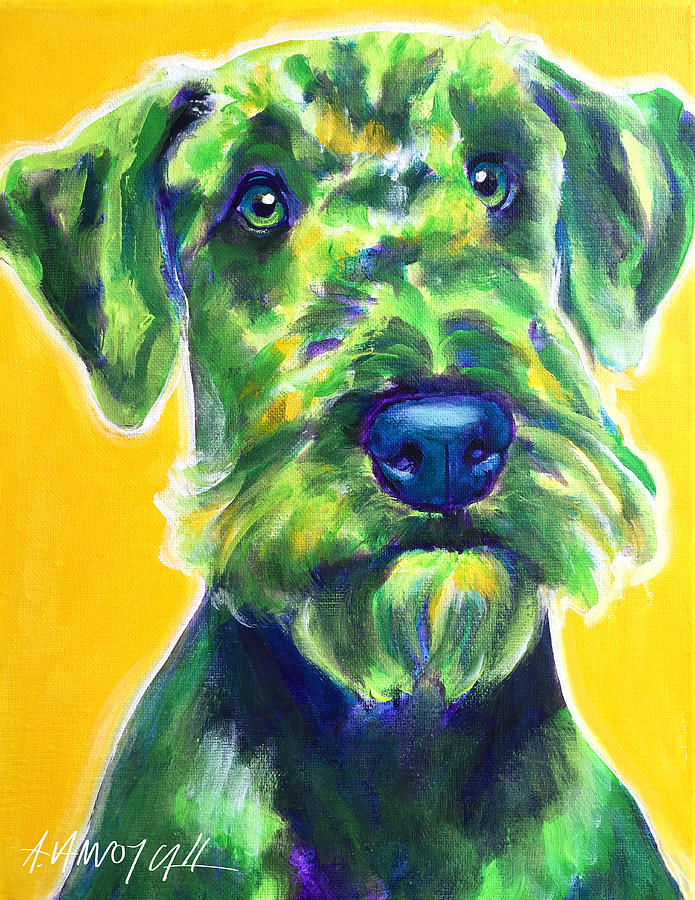 Airedale Terrier - Apple Green by Alicia VanNoy Call
