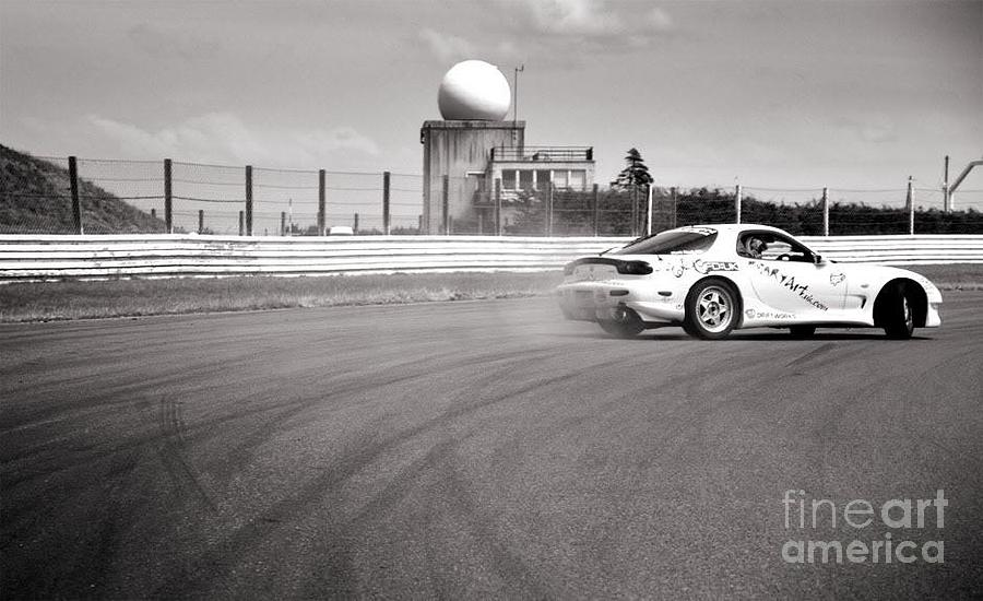 Car Photograph - Airfield Drifting by Andy Smy