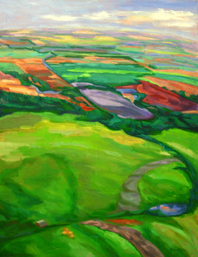 Landscape Painting - Airial View by Margie Taylor