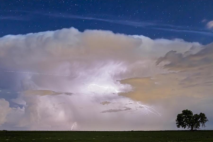 Airliner Lightning Strikes Photograph