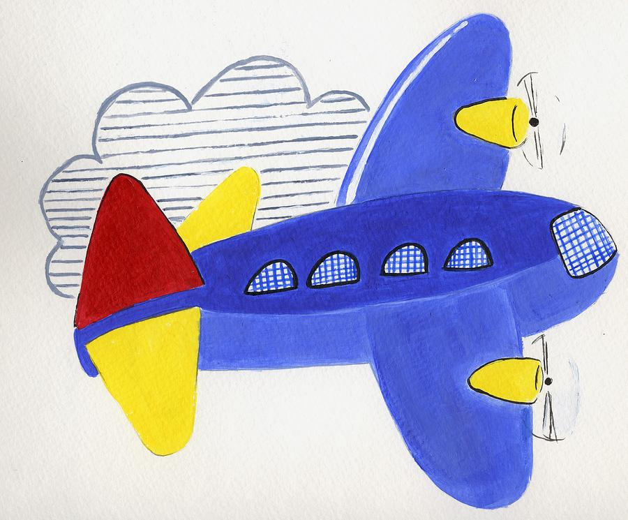 Airplane Painting - Airplane by Christine Quimby