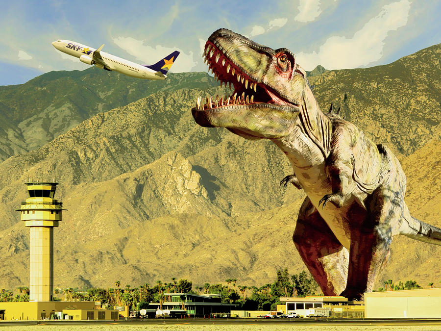 Dinosaur Photograph - Airplane Food Vintage  by William Dey