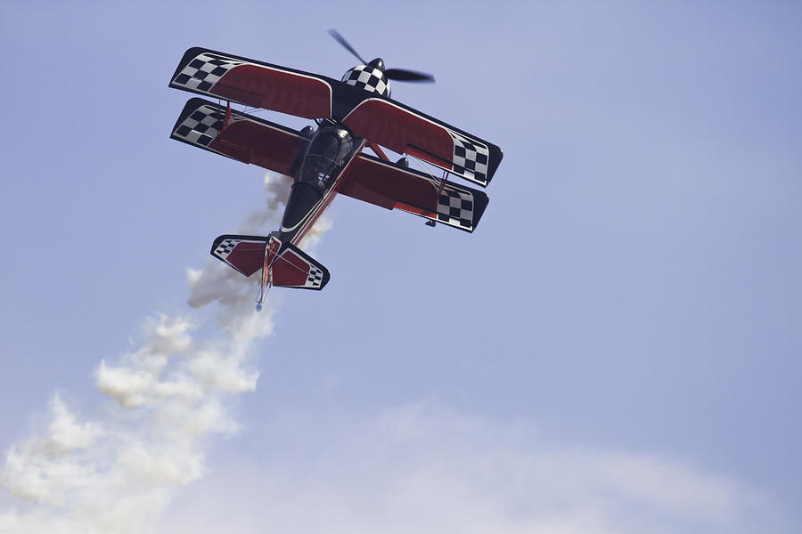 Airplane Photograph - Airplane Performing Stunts At Airshow Photo Poster Print by Keith Webber Jr