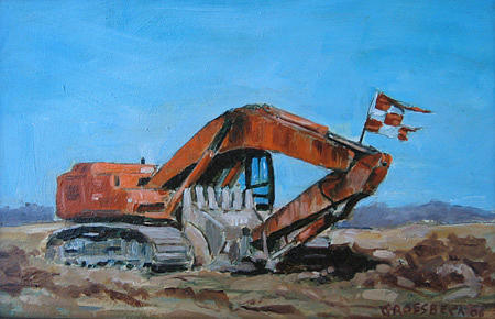 Landscape Painting - Airport Hoe by Todd Groesbeck
