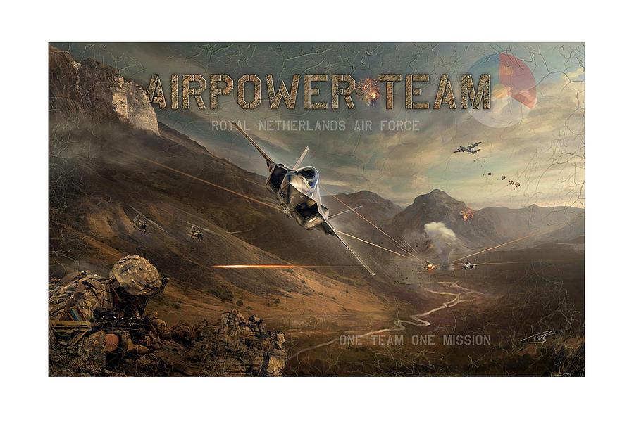 War Digital Art - Airpower Team by Peter Van Stigt