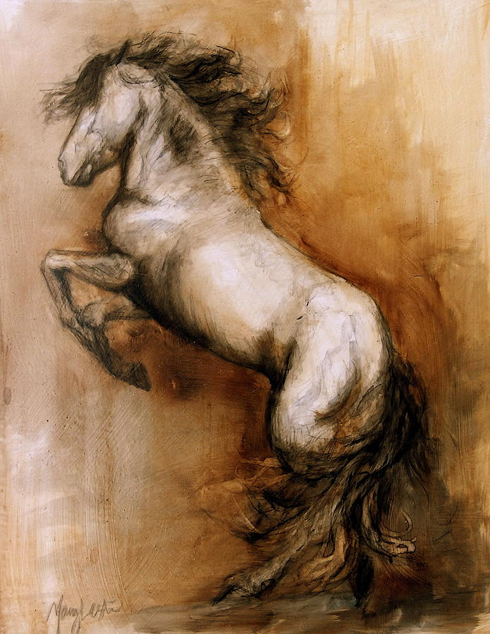 Horse Painting - Airs Above by Mary Leslie