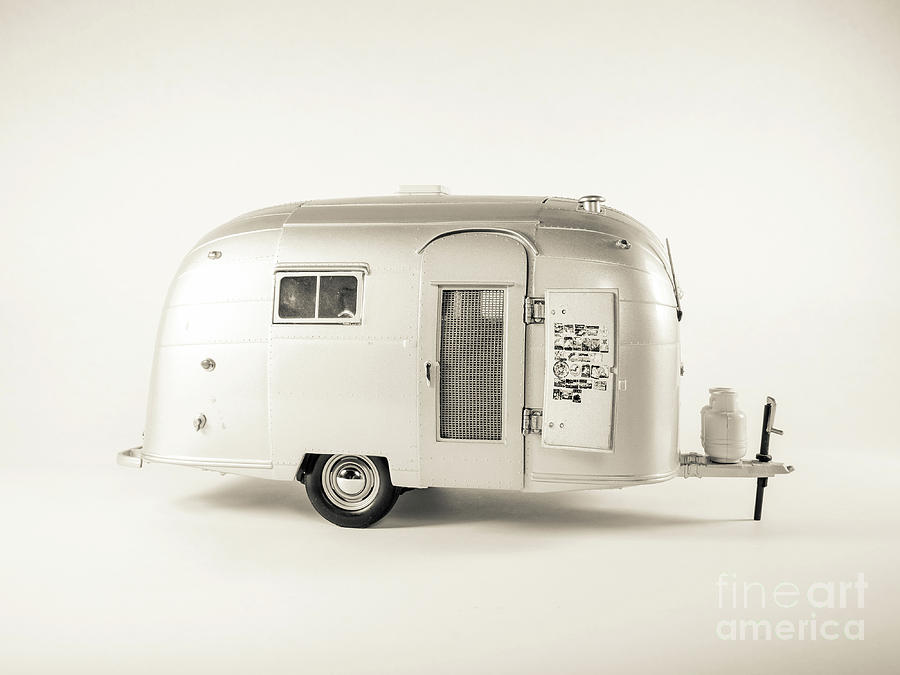 Camping Photograph - Airstream Bambi Camper by Edward Fielding