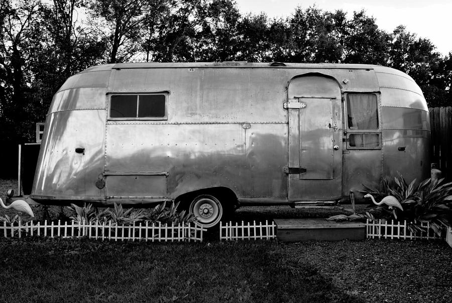 Black And White Photograph - Airstream Life by David Lee Thompson