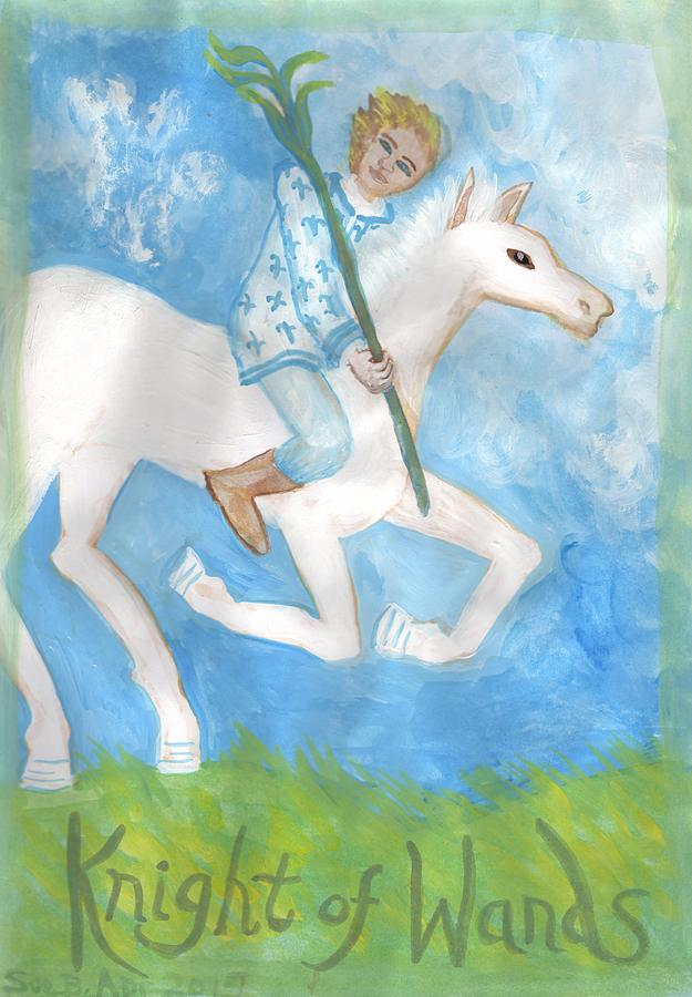 Tarot Painting - Airy Knight Of Wands by Sushila Burgess
