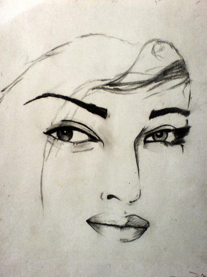 Aishwarya Drawing - Aish by Vishal Mane