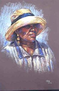 Portrait Painting - Aisha by Tina Siddiqui