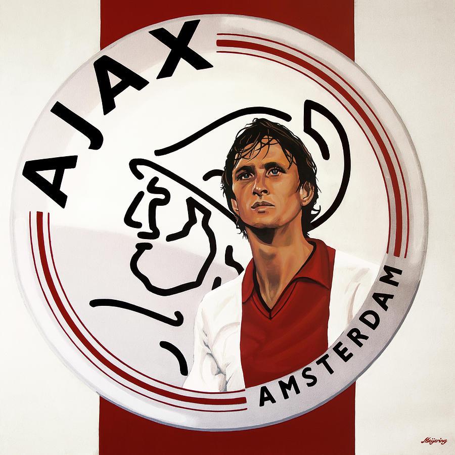 Johan Cruijff Painting - Ajax Amsterdam Painting by Paul Meijering
