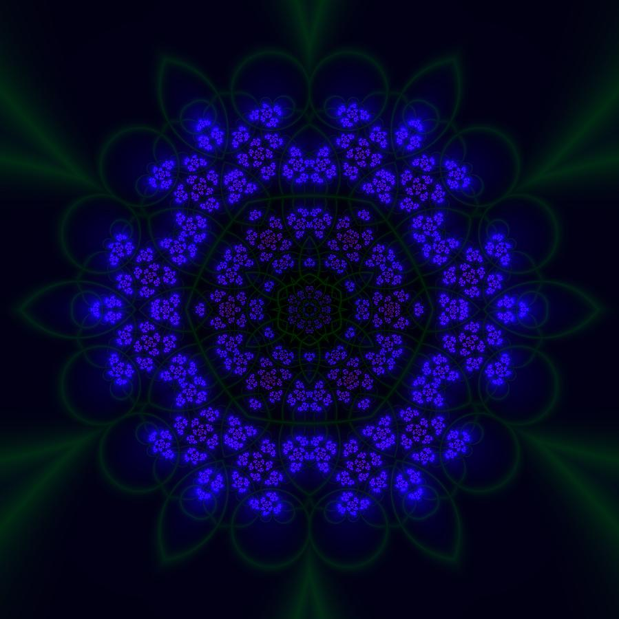 Mandala Digital Art - Akabala Lightmandala by Robert Thalmeier