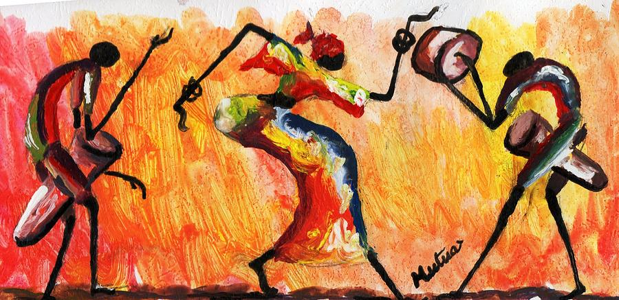 Kenyan Painting - Akamba Dance by William Mutua