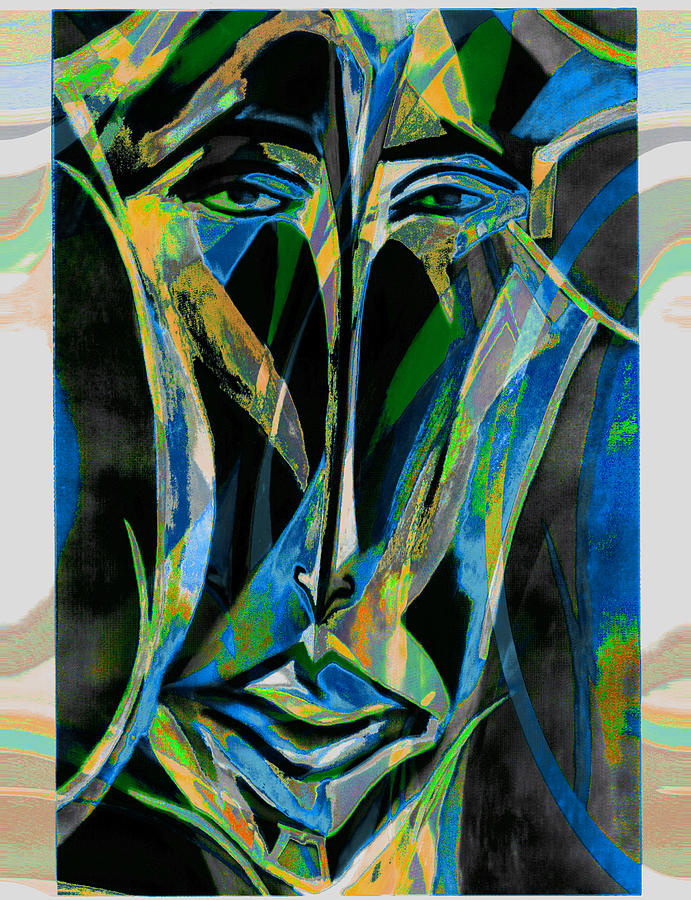 Mask Mixed Media - Akhnaton by Noredin Morgan