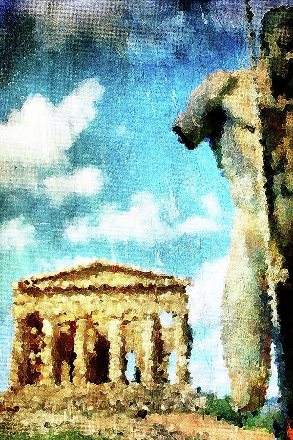 Agrigento Digital Art - Akragas by Andrea Barbieri
