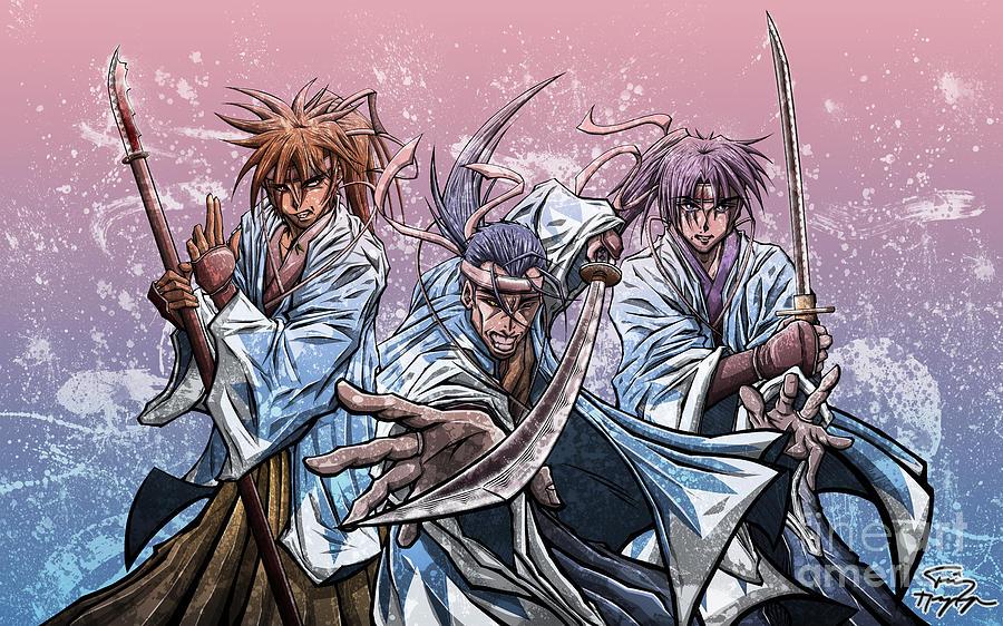 Shinsegumi Drawing - Aku Soku Zan by Tuan HollaBack