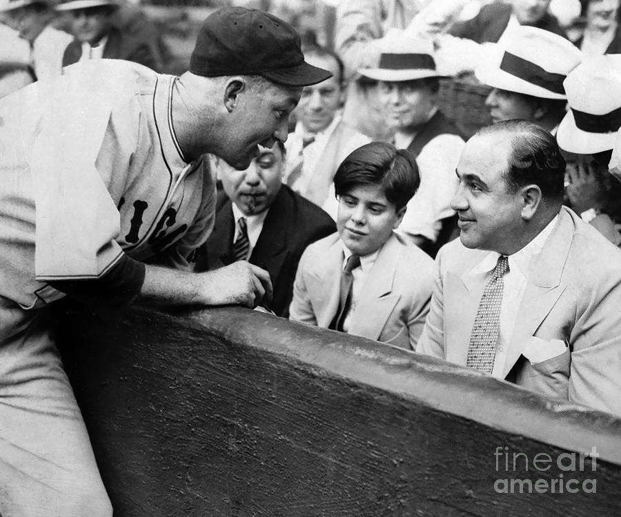Al Capone Photograph - Al Capone At The Cubs Game by Jon Neidert