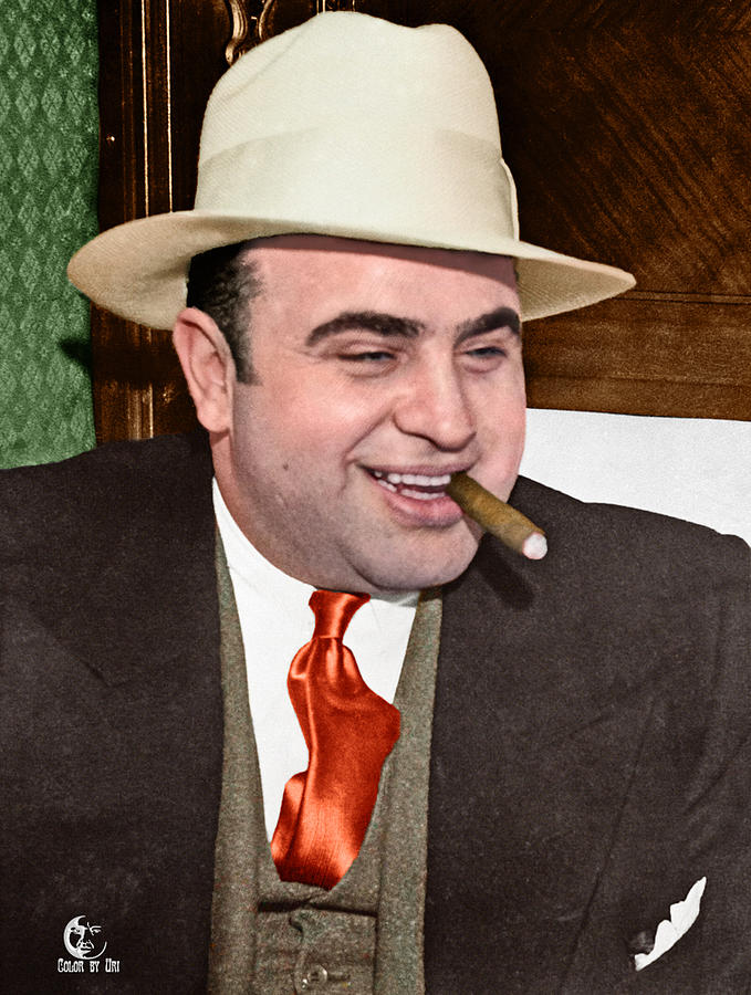 Al Capone In Color Photograph By Uri Uri