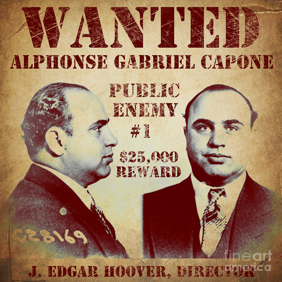 public enemy painting al capone most wanted poster by mindy sommers