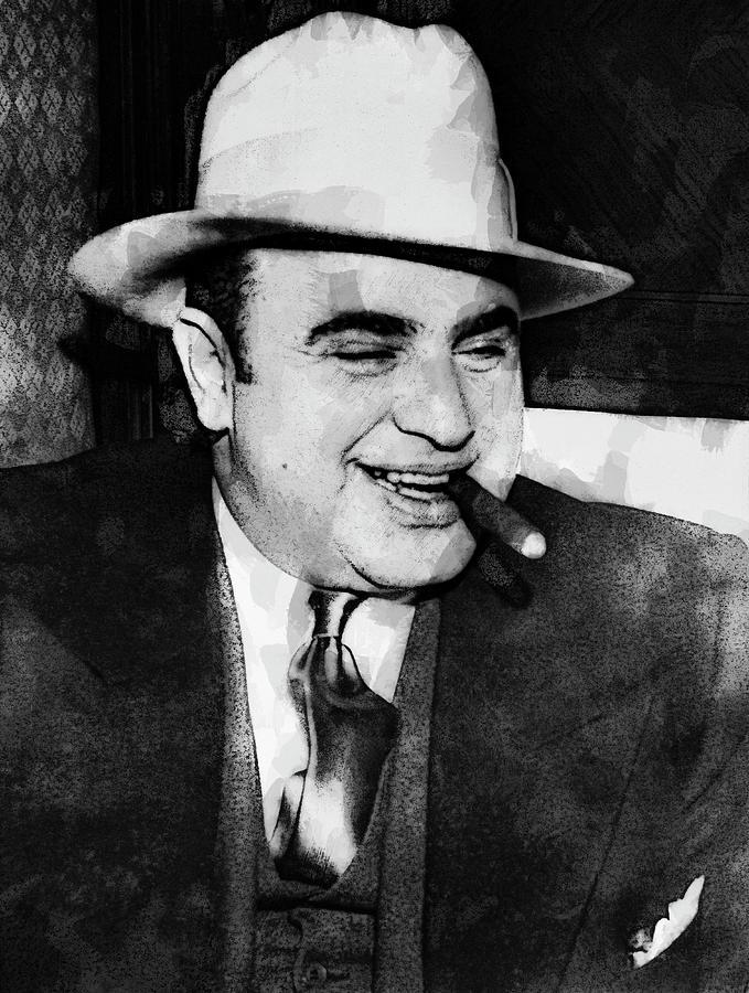 Prohibition Digital Art - Al Capone Prohibition Boss Of Chicago by Daniel Hagerman