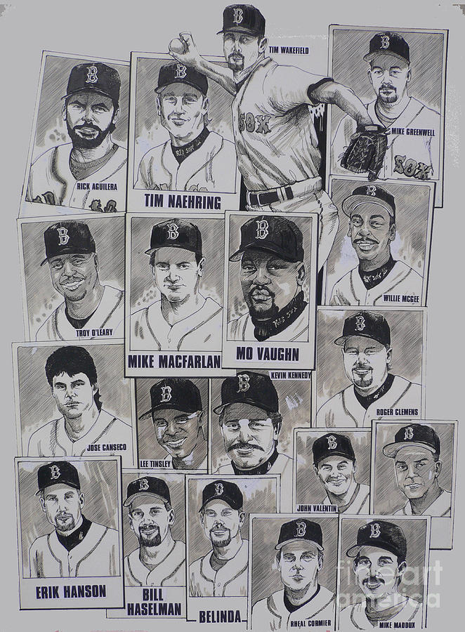 Mbl Drawing - Al East Champions Red Sox Newspaper Poster by Dave Olsen