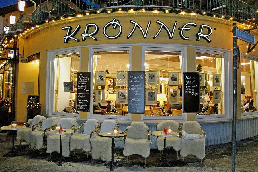 Garmisch Photograph - Al Fresco Dining Bavarian Style by Robert Meyers-Lussier