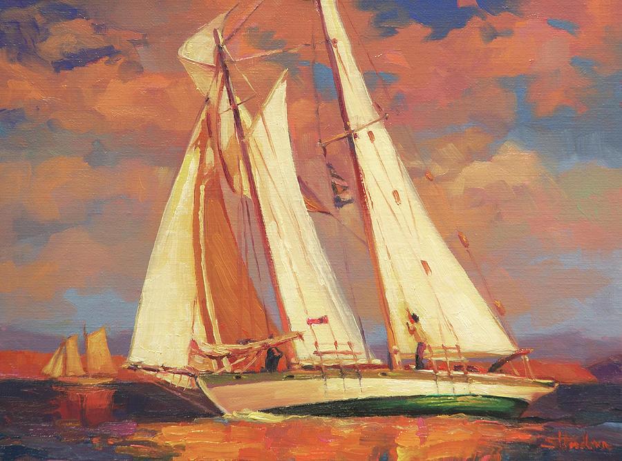 Sailboat Painting - Al Fresco by Steve Henderson
