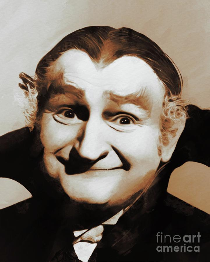 Al Lewis Grandpa Munster Painting By Mary Bassett