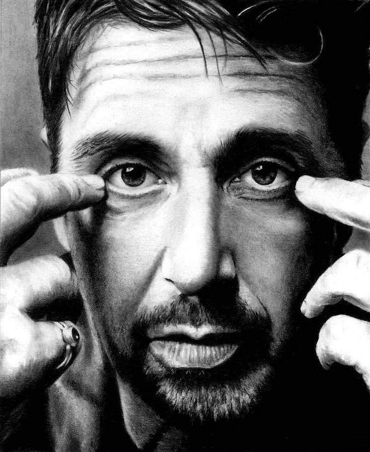 Al Pacino Drawing - Al Pacino by Rick Fortson