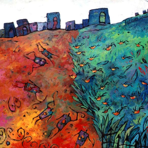 Abstract Mixed Media - Al Shalalah  by Islam Kamil