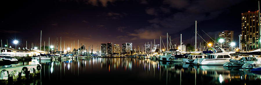 Ala Wai Boat Harbor Photograph - Ala Wai Boat Harbor by Craig Watanabe