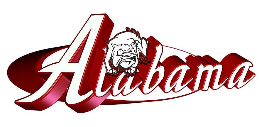 Alabama Bulldogs School Mascot Digital Art By William Barron